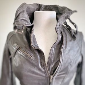 ALL SAINTS | Belvedere Brown Leather Jacket